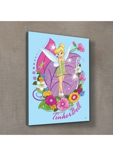 Disney Tinkerbell 50X70 Cm Kanvas Tablo Renkli